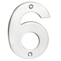 Door Number Steelworx NUM10106BSS 100mm No 6 or No 9 Polished Stainless Steel £7.62