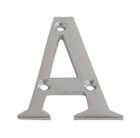75mm Door Letter A Satin Chrome £4.08