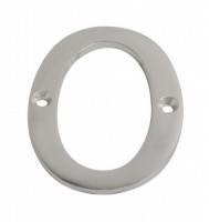 75mm Door Number 0 Satin Chrome £2.98