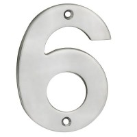 Door Number Steelworx NUM10106SSS 100mm No 6 or No 9 Satin Stainless Steel £6.00