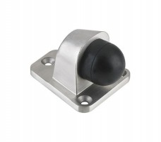 Zoo Heavy Duty Floor Mounted Door Stop ZAS84SS 60 x 51mm Satin Stainless Steel £11.08
