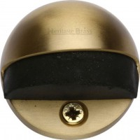 Oval Floor Mounted Door Stop Heritage Brass V1080-SB Satin Brass £4.85