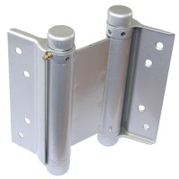75mm Double Action Spring Hinges Silver per pair £19.90