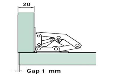 Easy Fit Sprung Hinge On Diagram