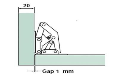 Easy Fit sprung Hinge Inset Diagram