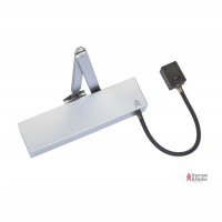 Arrow Electromagnetic Hold Open Swing Free Door Closer Silver with Matching Arm 624UEM £150.45