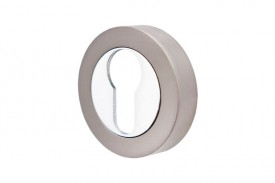 Escutcheon Euro Profile Cylinder Vision Designer Graphite & Polished Chrome 5352 £3.16