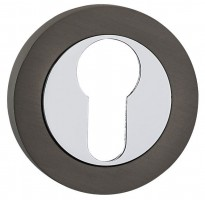 Fortessa Euro Escutcheons Gun Metal Grey & Polished Chrome per Pair £9.82