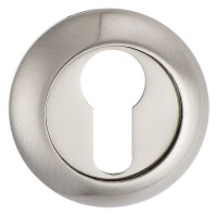 Fortessa Raised Euro Profile Escutcheons Satin Nickel Per Pair £7.44