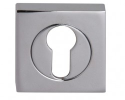 Fortessa Euro Profile Escutcheons Square Rose Polished Chrome Per Pair £7.44