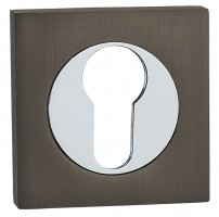 Fortessa Euro Escutcheons on Square Rose Gun Metal Grey & Polished Chrome per Pair £9.82