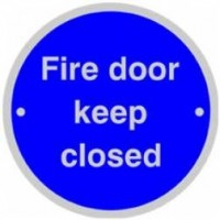 76mm Dia Fire Door Keep Closed Sign SSS BS5499 £3.22