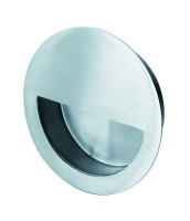 Steelworx 89mm Circular Flush Pull FPH1004BSS Polished Stainless Steel £10.56