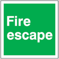 Fire Escape Sign 100 x 100mm BS81 Rigid Self Adhesive BS5499 £2.76