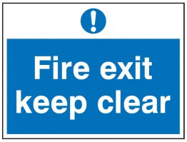 Fire Exit Keep Clear Sign 200 x 150mm FS169 Rigid PVC Self Adhesive £8.41