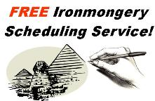 Free Ironmongery Scheduling Service from Cookson Hardware.