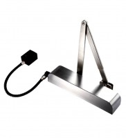 Free Swing Hold Open Electromagnetic Door Closer with Radius Cover Exidor 9870 Polished Stainless Steel £195.97
