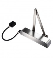 Free Swing Hold Open Electromagnetic Door Closer with Radius Cover Exidor 9870 Satin Stainless Steel £170.15
