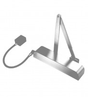 Free Swing Hold Open Electromagnetic Door Closer with Radius Cover Exidor 9870 Silver £160.10
