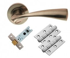 Carlisle Brass Door Handles Sintra GK007SN/INTB Lever Latch Pack Satin Nickel £18.86