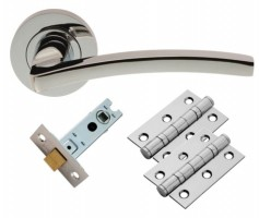 Carlisle Brass Door Handles Tavira GK009CP/INTB Lever Latch Pack Polished Chrome £16.96