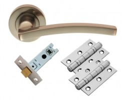 Carlisle Brass Door Handles Tavira GK009SN/INTB Lever Latch Pack Satin Nickel £17.47