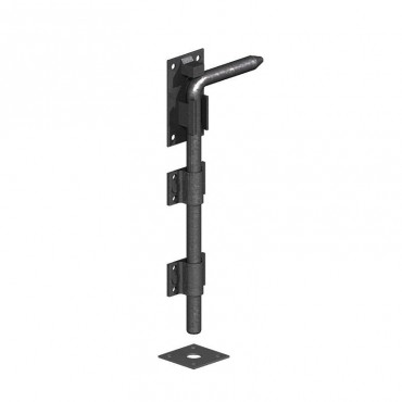 260 450mm Garage Door Drop Bolt Black