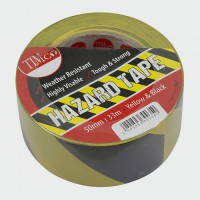 PVC Hazard Tape Self Adhesive Black / Yellow 33M x 50mm £5.63