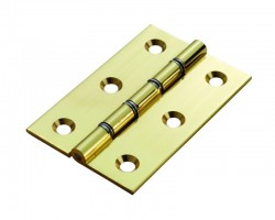 100mm Butt Hinge HDSW2 Polished Brass per Single £4.22