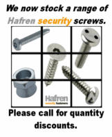 Hafren fasteners supply an extensive range of fasteners. we can provide drilling self tapping screws, bolts shear nuts, armour rings, tufnuts, sleeve anchors shield anchors. Various security options are available including 2 hole pig nose, pin hex, 6 lobe pin, clutch, sentinel, oval pan head, torxplus, solok, nogo and kinmar.