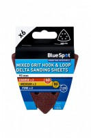 Delta Sanding Sheets 93mm Mixed Pack of 6 BlueSpot 19878 £0.88
