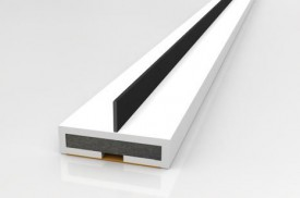 Intumescent Fire & Smoke Strip with Single Blade 2100 x 10mm White £2.60