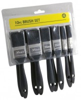 10 Piece Budget Paint Brush Set £2.12