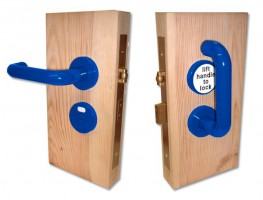 Jeflock Disabled Bathroom Lockset Antibac Normbau Blue £184.15