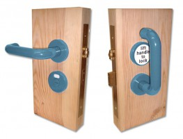 Jeflock Disabled Bathroom Lockset Antibac Normbau Slate Blue £184.15