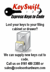 KeySwift keys cut to code in Manchester.