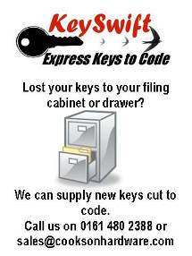 Keyswift - Express Keys to Code. Key cutting service - cabinet keys, mortice keys & Yale type keys.