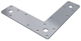 L Brackets 150mm x 150mm x 38mm Galv Pack of 10 £16.81