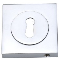 Fortessa Lever Key Escutcheons Square Rose Polished Chrome Per Pair £7.44