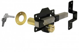 1127 70mm Long Throw Gate Lock Double Locking Black Keyed Alike £73.01