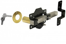 1126 70mm Long Throw Gate Lock Single Locking Black Keyed Alike £58.29