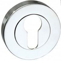 Mediterannean Euro Escutcheon M-ESC-E-CP Polished Chrome £3.40