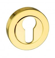Mediterannean Euro Escutcheon M-ESC-E-BP Polished Brass Plated £3.40