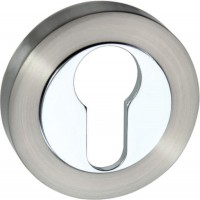 Mediterranean Euro Escutcheon M-ESC-E-SNCP Satin Nickel / Polished Chrome £3.40