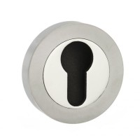 Mediterranean Euro Escutcheon M-ESC-E-SNNP Satin Nickel / Polished Nickel £3.59