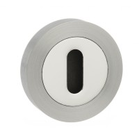 Mediterranean Lever Key Escutcheon M-ESC-K-SNCP Satin Nickel / Polished Chrome £3.40