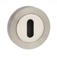 Mediterranean Lever Key Escutcheon M-ESC-K-SNNP Satin Nickel / Polished Nickel £3.59
