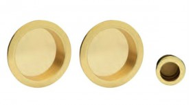 Manital ART54.A Sliding Door Flush Pull Set Polished Brass £30.34