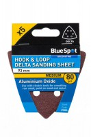Delta Sanding Sheets 93mm 80Grit Pack of 5 BlueSpot 19861 £0.74