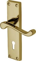 Marcus PR600-PB Malvern Lever Lock Door Handles Polished Brass £14.17